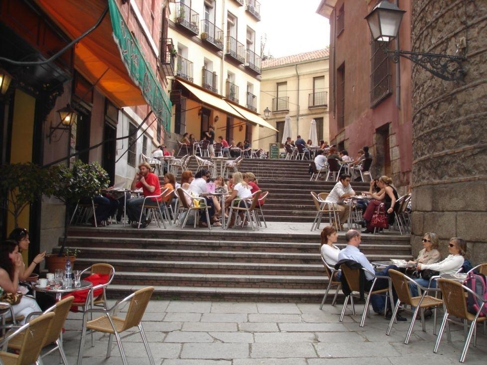 Quartie de la Latina à Madrid