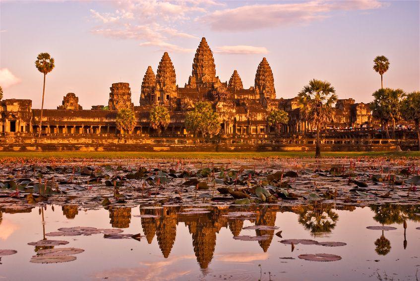 Couchers de soleil sur Angkor Vat,Cambodge