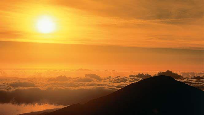 Couchers de soleil, Mount Haleakala, Hawaii