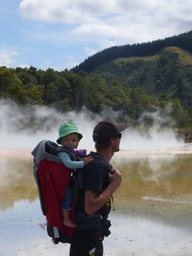 Voyage en Nouvelle-Zélande avec bébé Wai-O-Tapu