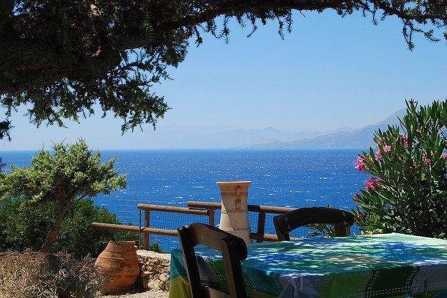 vue sur mer en Crète, idéal en hors saison