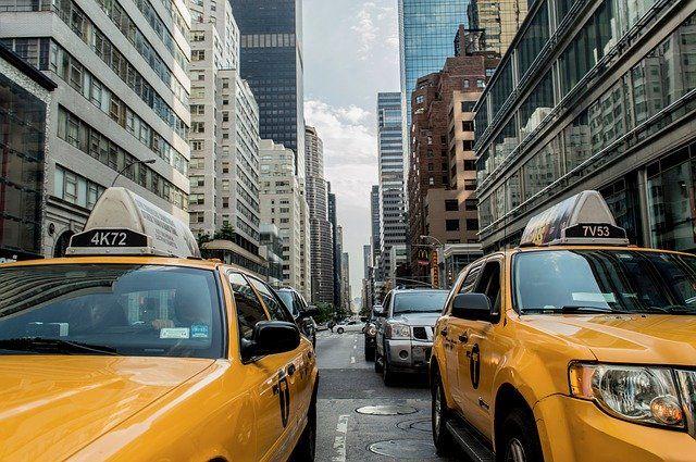 les taxis jaunes de New-York, idéal en hors saison