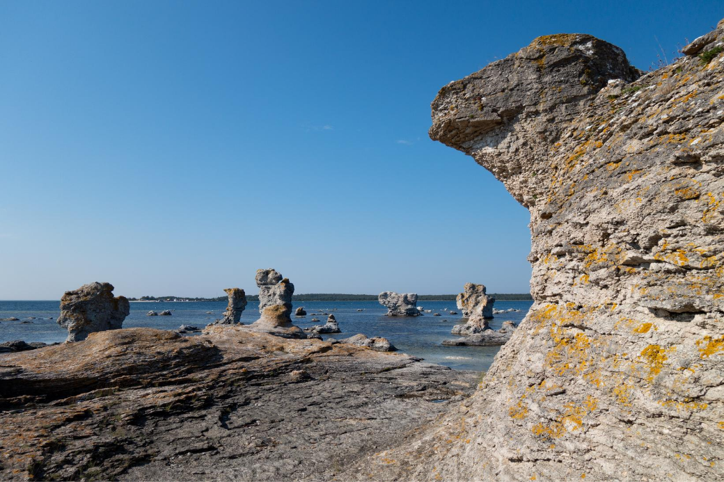 suède-ile de faro-rochers-gotland-vacances-été indien-echange de maison