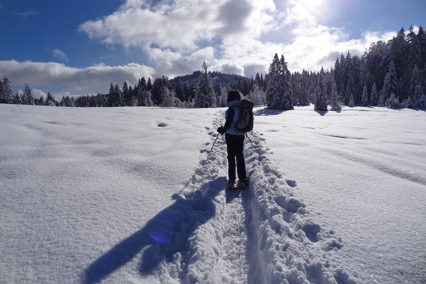 Raquettes-randonner-montagne-neige